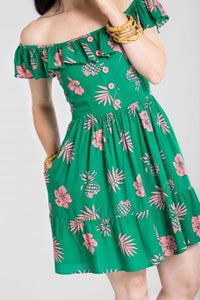 Pineapple Floral Tiki Dress