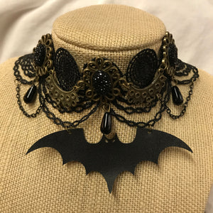 Bat Lace Choker