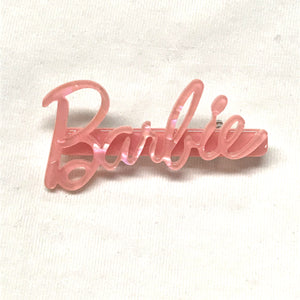 Pink Barbie Signature Brooch