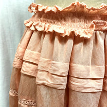 Load image into Gallery viewer, Baby Doll Pink Ruffle Skirt