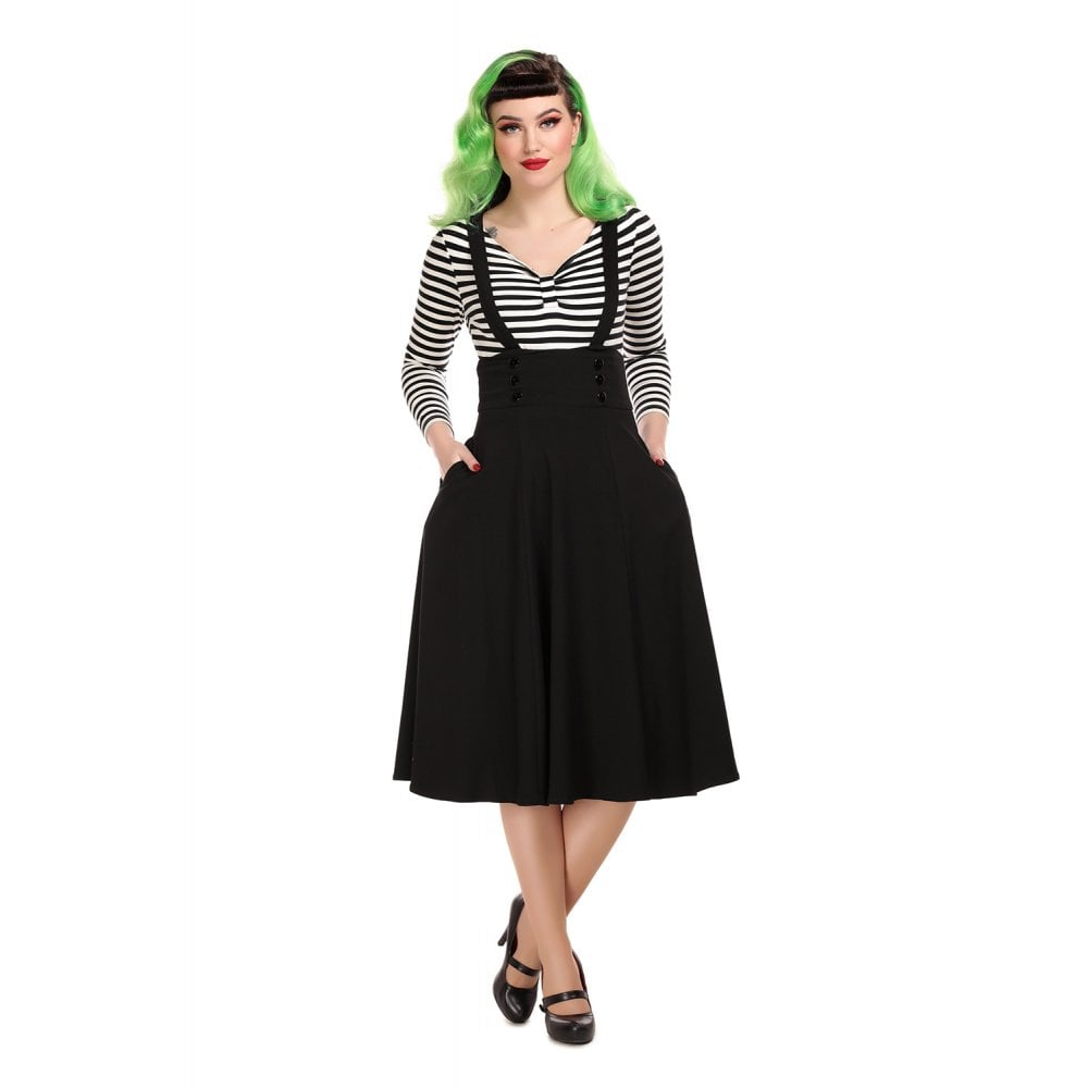 Ronnie Black Suspender Swing Skirt