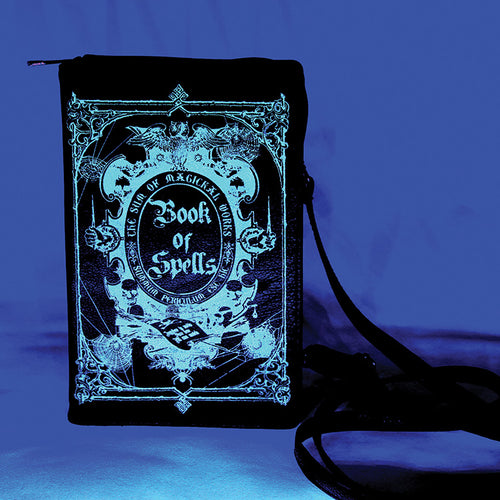 book of spells purse glow in the dark