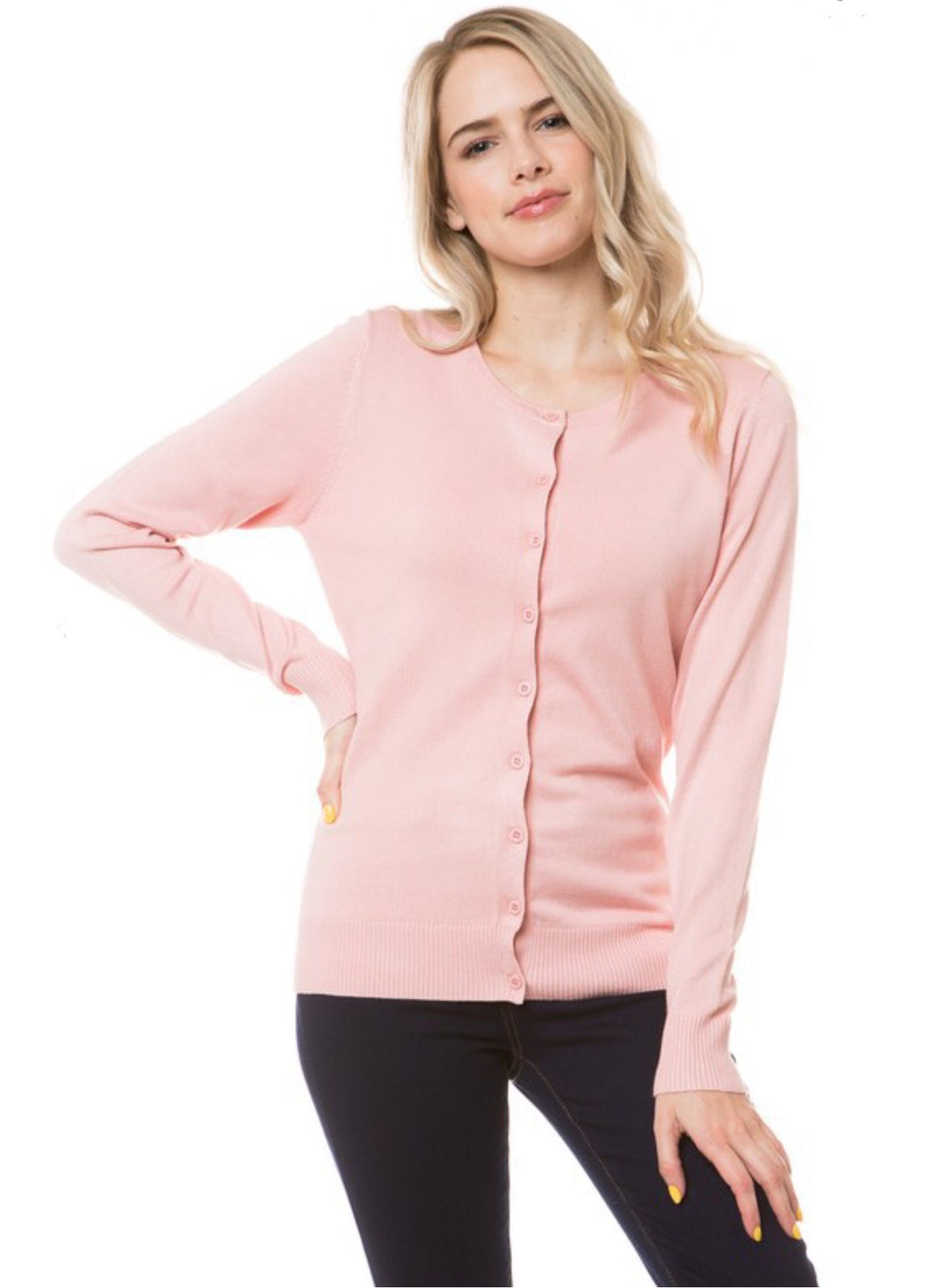 Dusty Rose Long Sleeve Cardigan