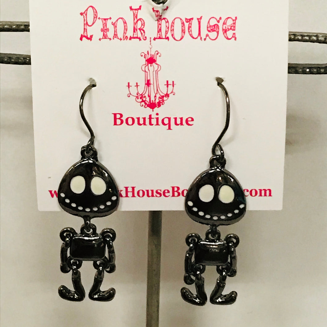 Jack Skelington Articulated Earrings