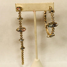 Load image into Gallery viewer, Mismatch Hoop and Dangle Gem Earrings
