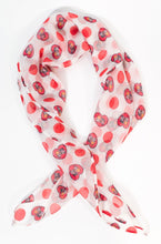 Load image into Gallery viewer, I Love Lucy Polka Dots and Hearts Hair Scarf