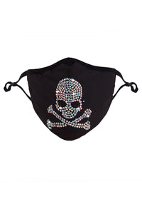 Rhinestone Bling Crossbones Mask