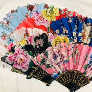 Floral Hand Fan- More Colors Available!