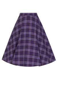 Purple plaid skirt retro vintage style