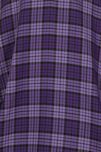 Kennedy Purple Plaid Swing Skirt