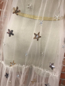 Ivory Sheer Star Dress