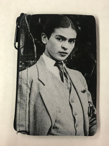 Frida In Her Suit Mini Pouch