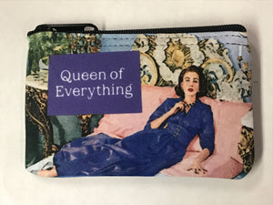 """Queen of Everything"" Mini Pouch"