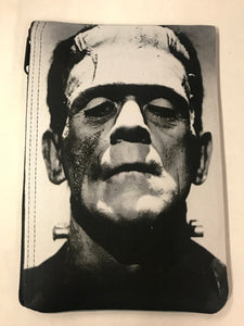 Frankenstein Black and White Portrait Print Pouch