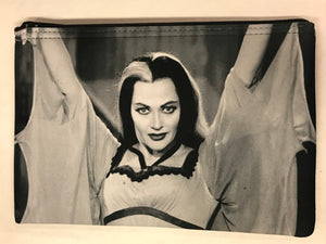 Lily Munster Black and White Print Pouch
