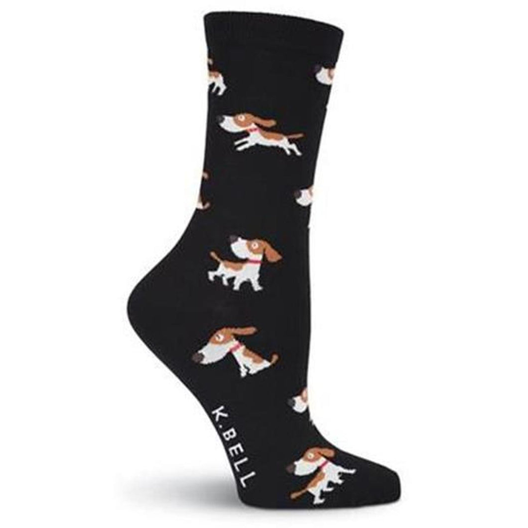 Puppy (Black) Women's Funky Socks