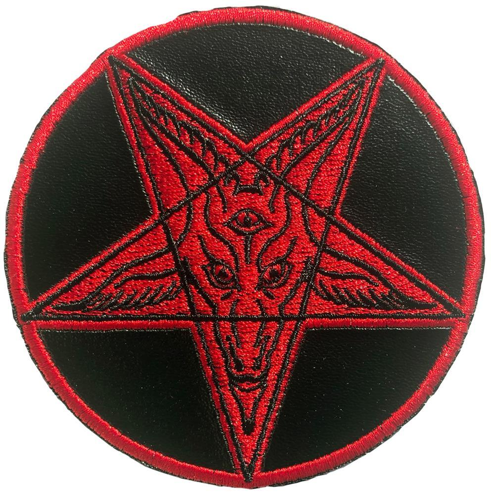 Red Satanic Circle Patch