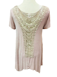 Lavender Lace Back Tunic