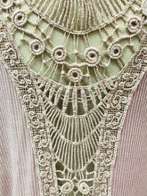 Load image into Gallery viewer, Lavender Lace Back Tunic