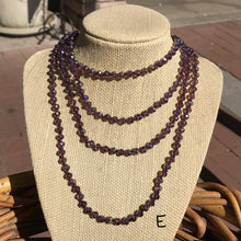Load image into Gallery viewer, Long Faceted Bead Necklaces