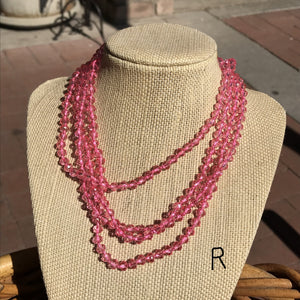 Long Faceted Bead Necklaces