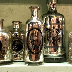 Mercury Glass Apothecary Jars- More Styles Available!