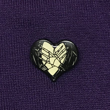 Load image into Gallery viewer, Nightmare Before Christmas Heart Pins Set of 3