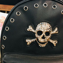 Load image into Gallery viewer, Crossbones Laced and Studded Backpack