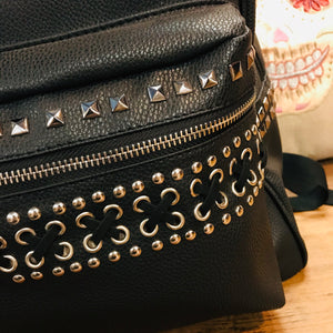 Crossbones Laced and Studded Backpack