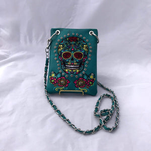 Sugar Skull Crossbody Purse- More Colors Available!