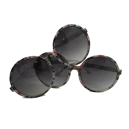 round floral sunglasses