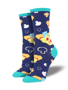 Pizza Dreams Care Bears (Navy) Women's Funky Socks