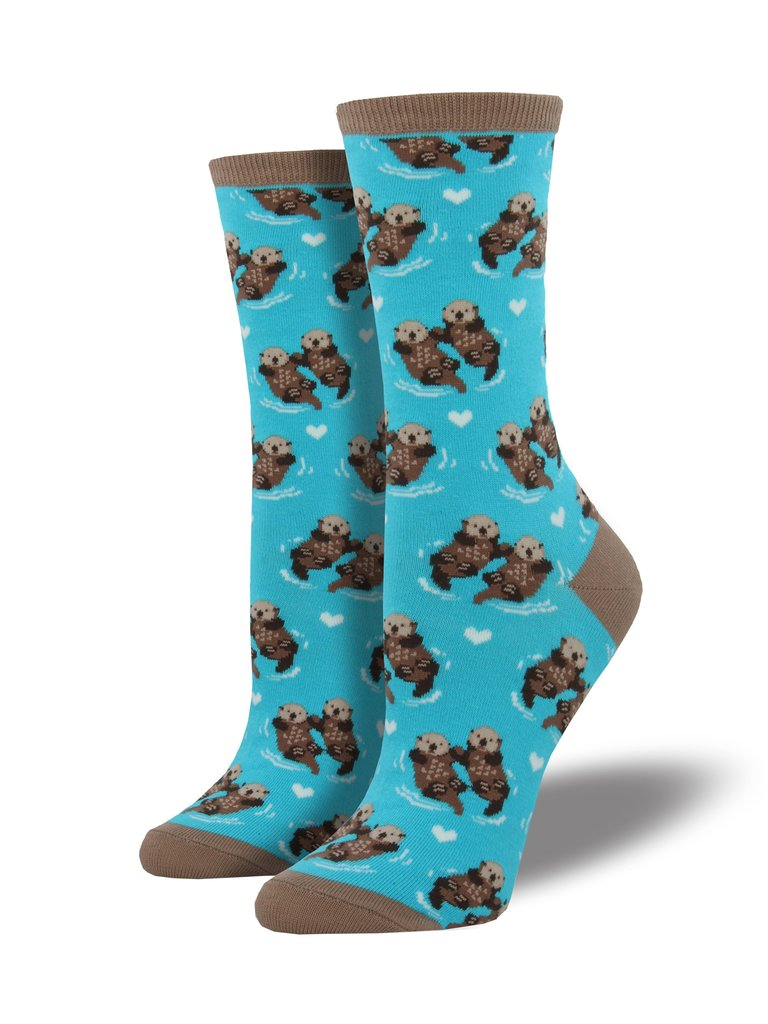 Significant Otter (Bright Blue) Women's Funky Socks