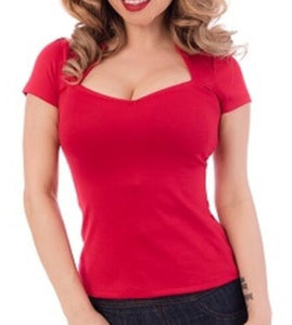 Red Sofia Top- Customer Favorite!