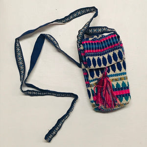 Stripe and Tassel Cell Phone Pouch