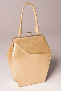 To Die For Gold Glitter Handbag