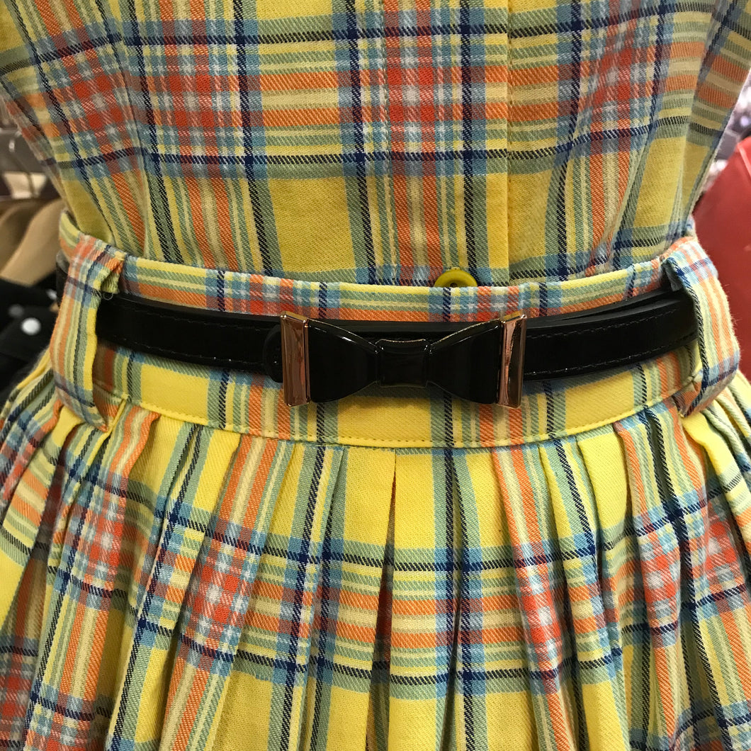Think Black Fashion Belt with Bow