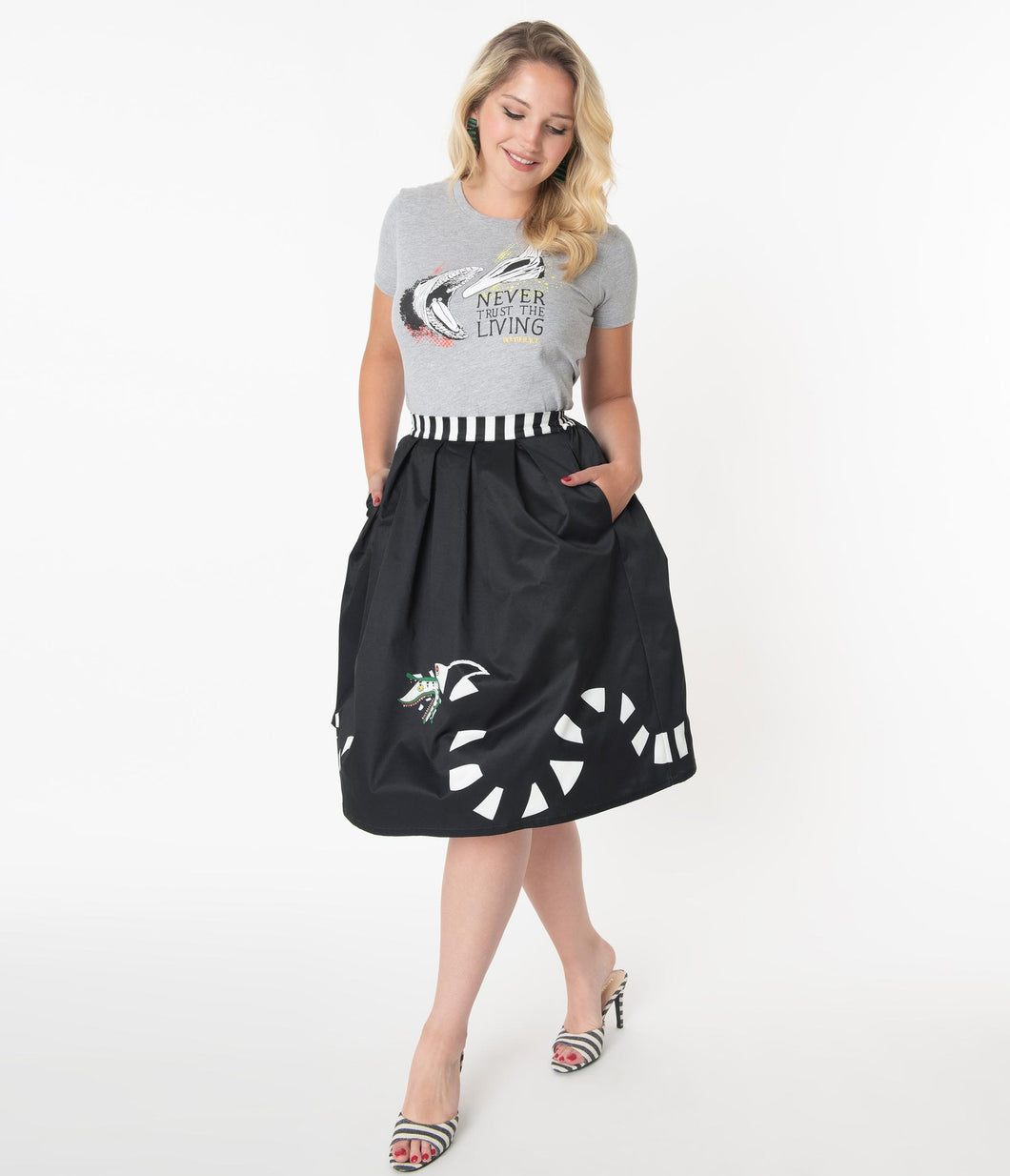 Beetlejuice Sandworm Jayne Swing Skirt