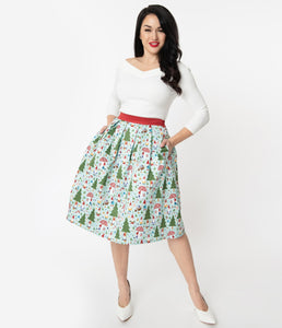 Forest Gnome Scene Jayne Swing Skirt