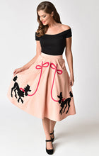 Load image into Gallery viewer, Pink Felt Poodle Skirt