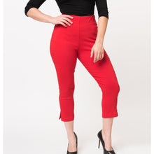 Load image into Gallery viewer, Red Capri Pants