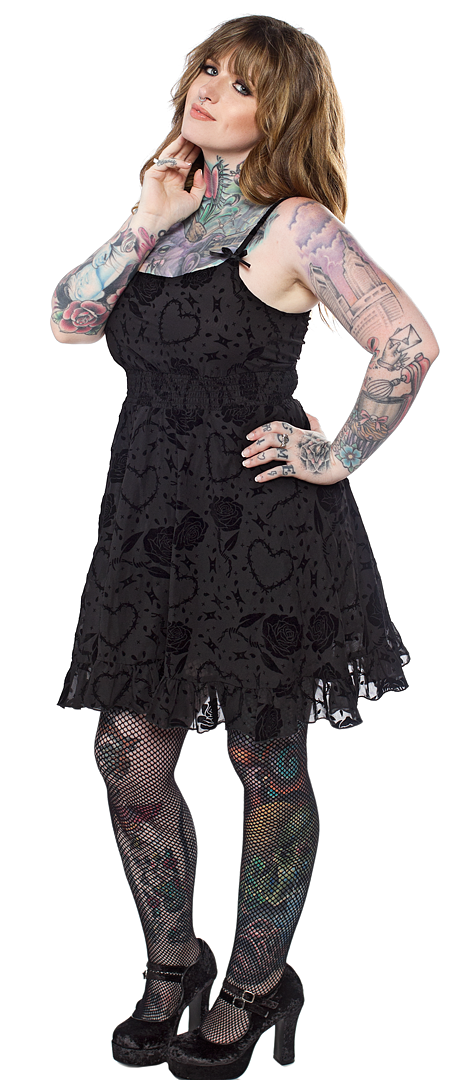 dolly barbed wire dress sourpuss