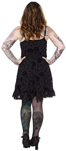 barbed wire rose black dress