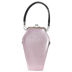 Pink Sparkle Coffin Handbag