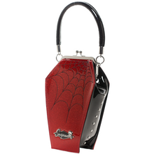 Load image into Gallery viewer, Red Sparkle Coffin Handbag