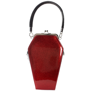 Red Sparkle Coffin Handbag