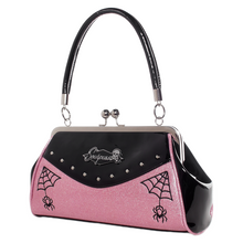Load image into Gallery viewer, Pink Webbed Widow Handbag