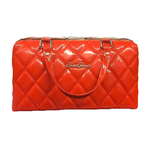 Red Jetson Quilted Hardshell Purse