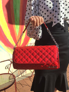 Quilted Atomic Barrel Purse