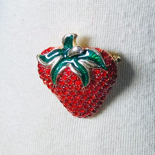 Strawberry brooch